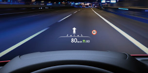 Windshield-projected colour Active Driving Display (ADD)
