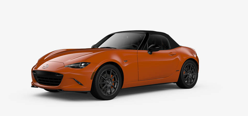 Mazda MX-5 2019 à toit souple uple Orange de course
